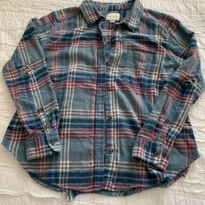 Distressed super soft flannel